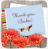 Shop personalized thank you's