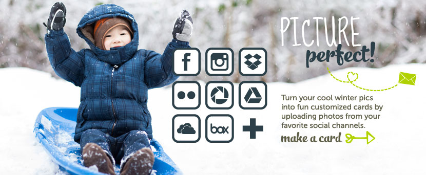 Turn Your Cool Winter Pics Into Fun Customized Cards By Uploading Photos From