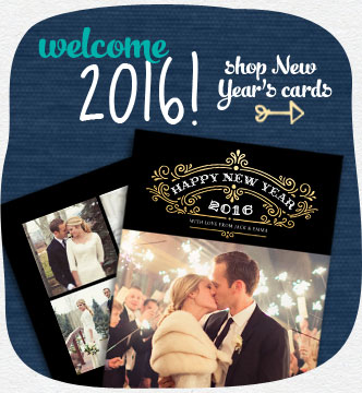 Welcome 2016! Kick of the New Year with fun, fresh cards. Shop New Year's cards