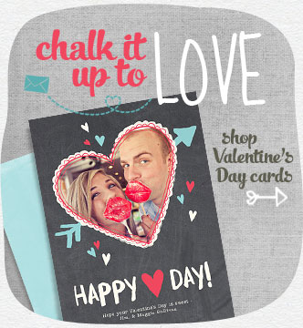Show 'em your heart's in the right place with a Valentine's Day card that's uniquely your own.