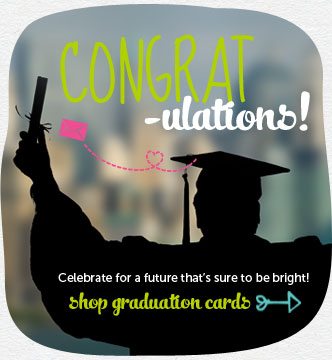 Congrat-ulations! Celebrate their successes, plans and goals for a future that's sure to be bright!