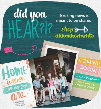 Find announcements for all share-worthy events. Shop announcements