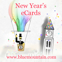 new years ecards blue mountain