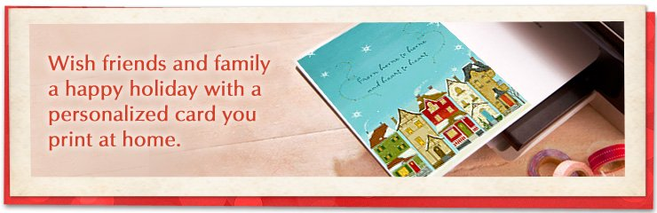 Create and print your own holiday cards from home!