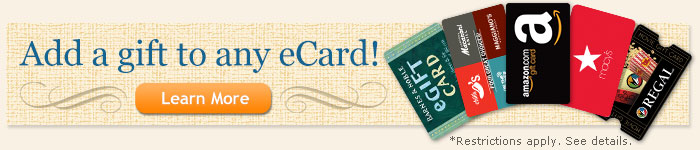Add a gift to any eCard!