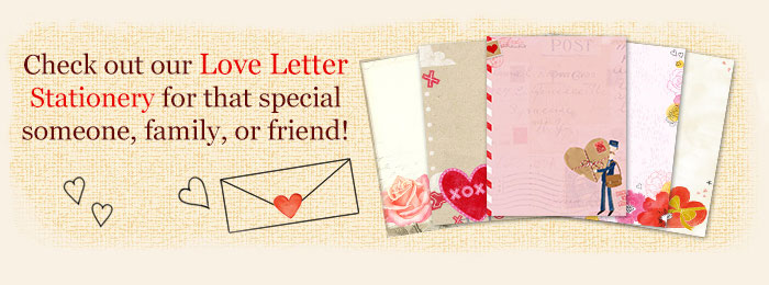 Printable Love Letter Templates Stationery – Templates for Love Letters