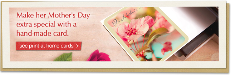 Maker her Mother's Day extra special with a hand-made card.