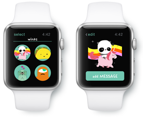 The JustWink App Can Send Greeting Cards And Animated Messages All From Comfort Of Your Own Wrist