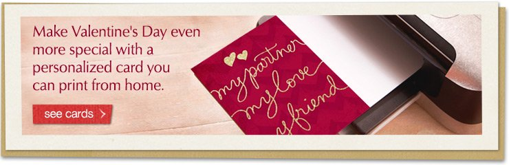 Make Valentine's Day even more special with a personalized card you can print from home.