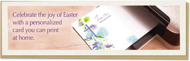 Celebrate the joy of Easter with personalized cards you can print at home.