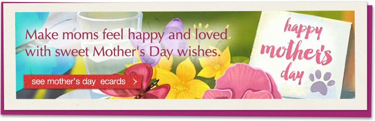Make moms feel happy and loved with sweet Mother's Day wishes. see mother's day ecards