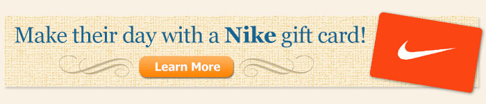Attach a Nike Gift Card!
