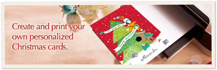 Celebrate the spirit of Christmas with a card you can personalize and print.