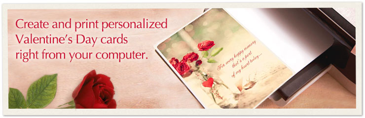 Create and print personalized Valentine's Day cards right from your computer.