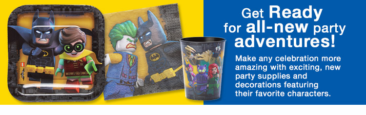 Party Supplies Category Banner - Lego Batman