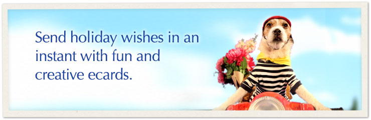 Ecards are the perfect way to celebrate holidays with all the special people in your life