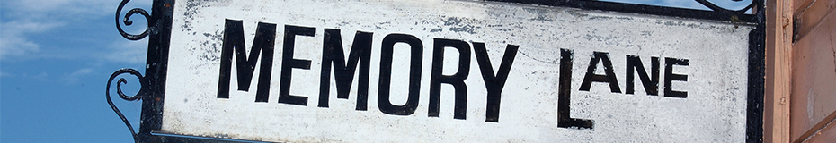 43rd Anniversary - Memory lane sign