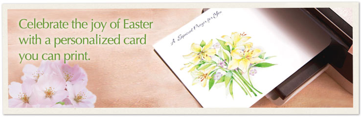 Celebrate the joy of Easter with a personalized card you can print.