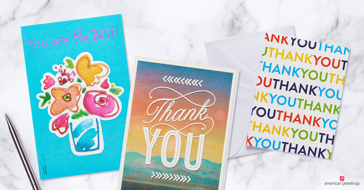 What to write in a thank you card american greetings thank you messages on greeting cards m4hsunfo