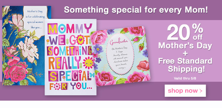 Promo Media Banner - 20% off Mother's Day