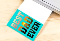 best dad ever printable card - Media Banner