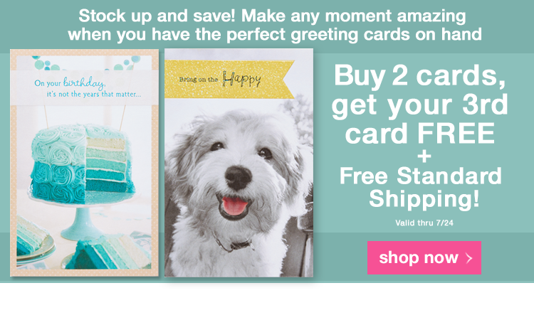 Promo Media Banner - Buy 2 cards, get your 3rd FREE