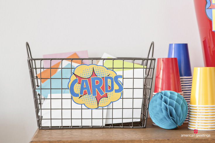 superhero card basket