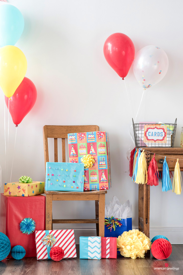 festive party gift station