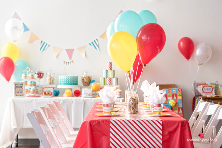 image with an overview decor for a carnival birthday party