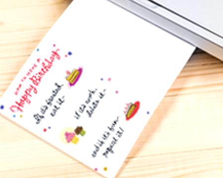 Birthday card being printed