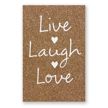 Live Laugh Love Wedding  Paper Card