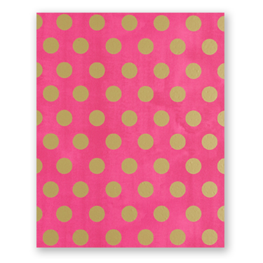 Pink with Gold Dots Wrapping Paper