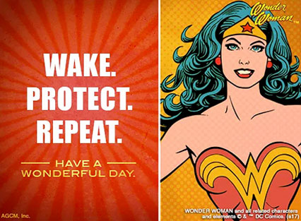 Wonder Woman, send the Wonder Woman day ecard