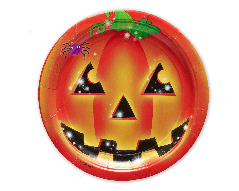 Pumpkin Jack-o-lantern Paper Plate