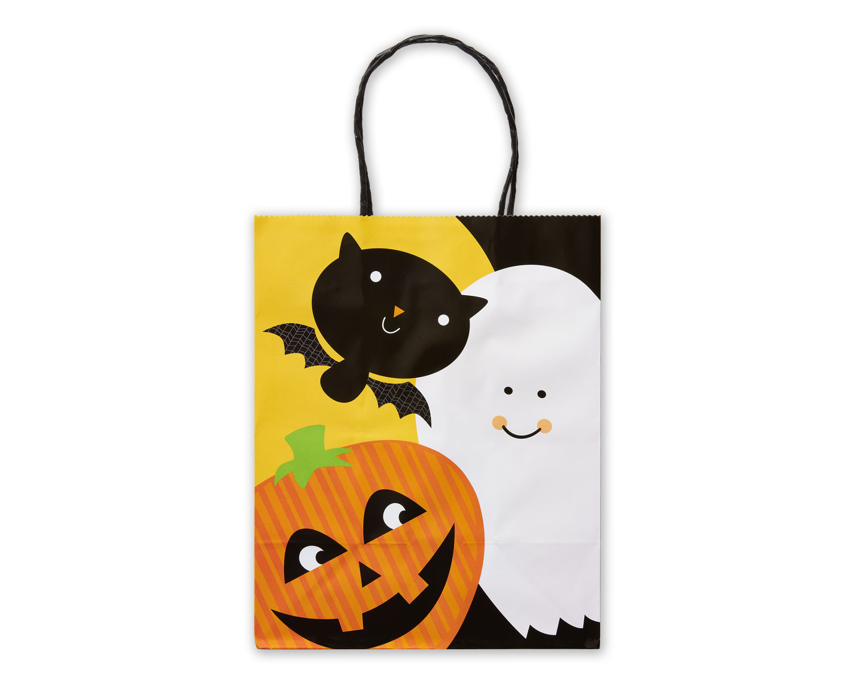 Ghost, Pumpkin, Bat Cartoon Gift Wrap Bag