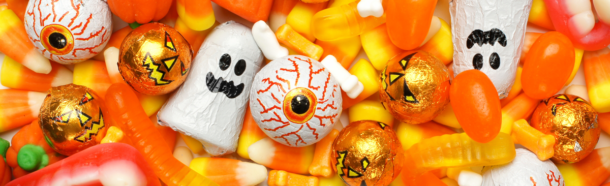 Close up of Halloween Candy
