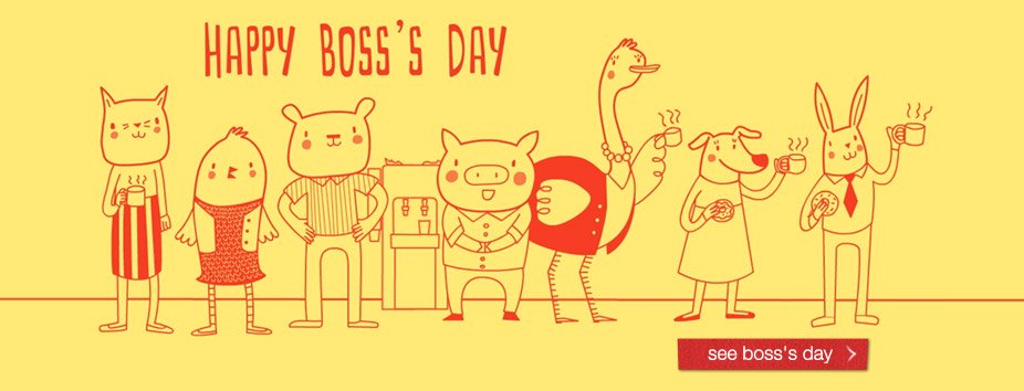 Boss's Day Homepage Banner