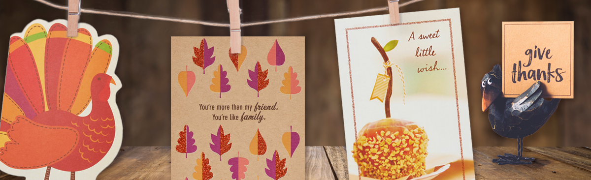 Turkey Card, Friend/Family Card, Little Wish Carmel Apple Card and Give Thanks turkey!