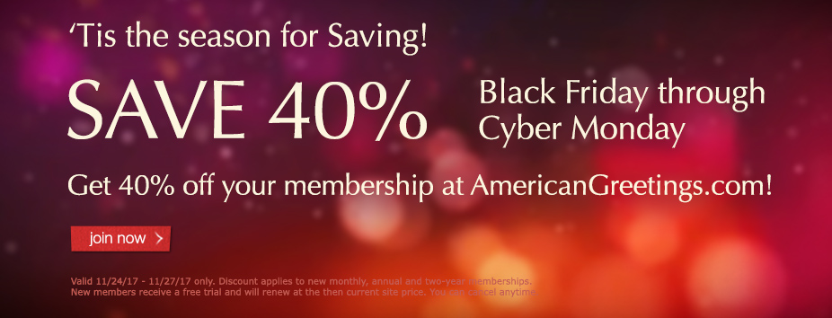 Black Friday 40 percent sale - Homepage Banner