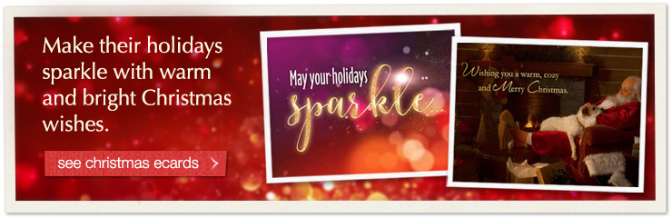 Make their holidays sparkle with warm and bright Christmas wishes.