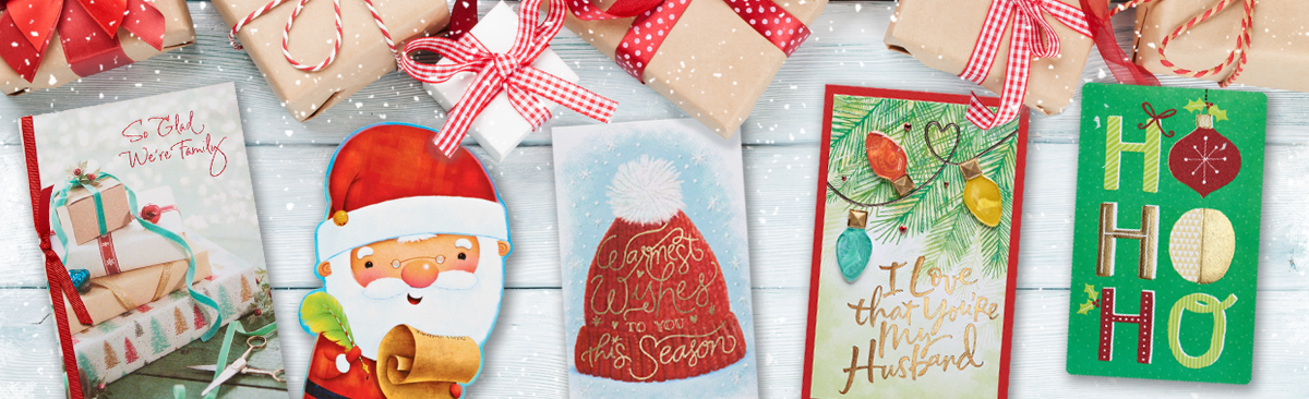 So Glad We're Family, Santa, Warmest Wishes, Christmas Lights and Ho Ho Ho Greeting Cards