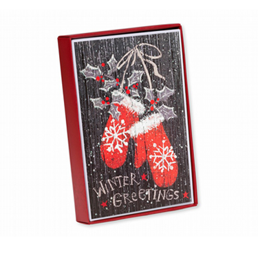 Mittens Winter Greetings Holiday Boxed Cards