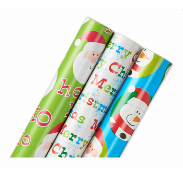 3 Rolls of Christmas Wrapping Paper