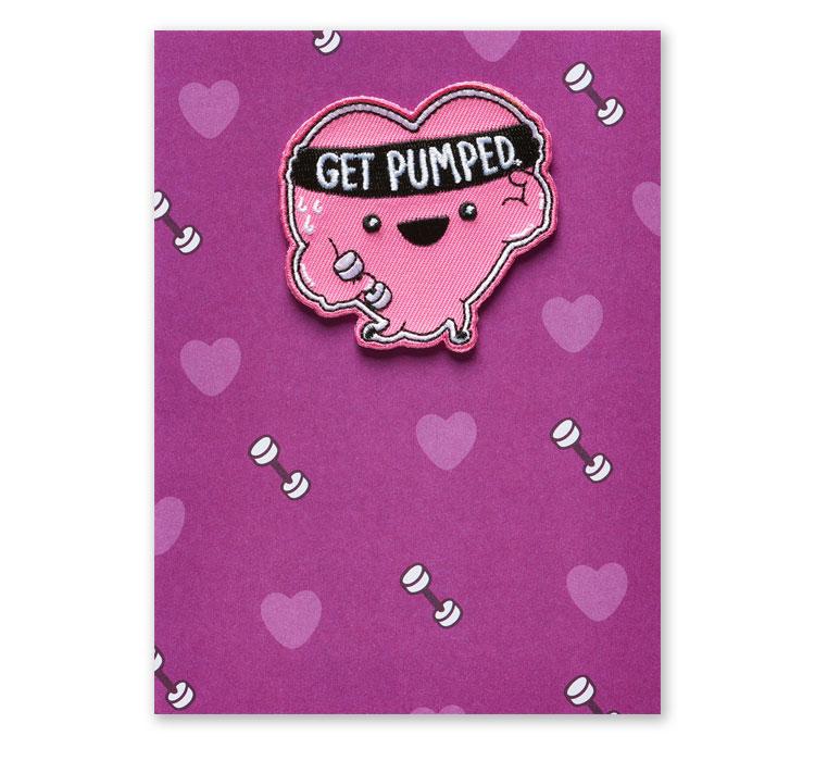Get Pumped Valentine Greeting Card