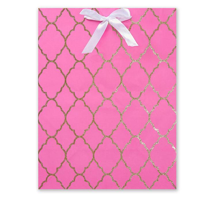 Pink Glitter Gift Bag