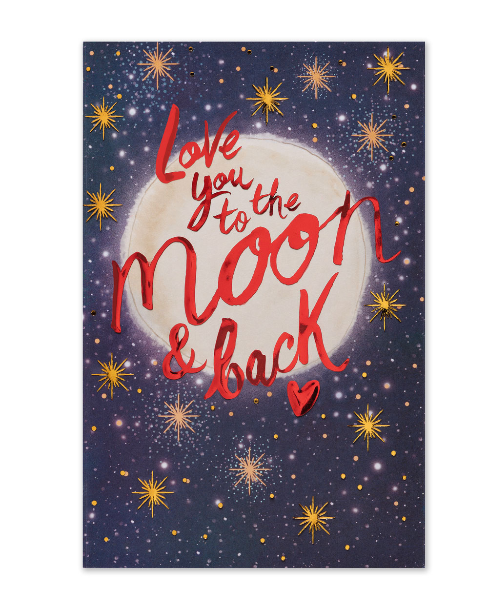 Love you to the moon and back valentine card