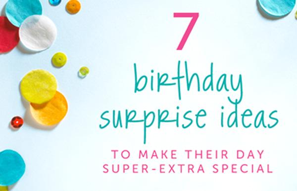 Birthday Surprise Ideas image with confetti