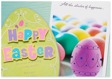 2 Easter cards on blue background - Shop Easter cards