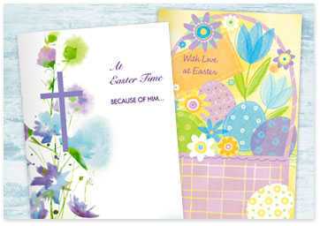 Two printable Easter cards - Browse Easter printables