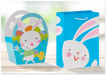 Easter bunny gift bag and basket - Shop gift wrap